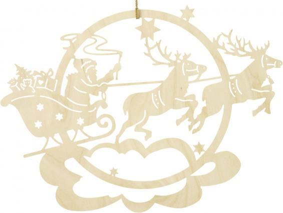 Weihnachtsmann Renntierschlitten