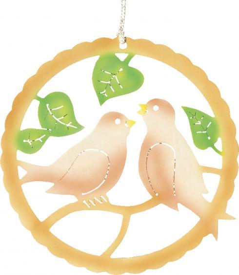 Vogelpaar - farbig