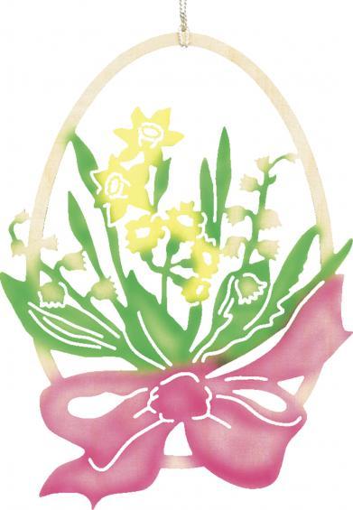 Ei mit Blume - farbig