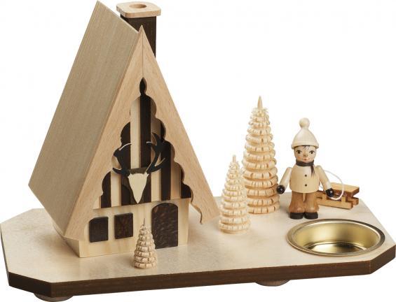 Forsthaus mit Schlitten-Zieher