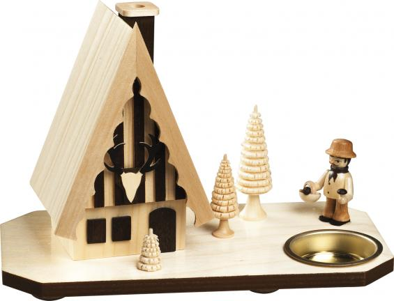 Forsthaus mit Pilzsammler